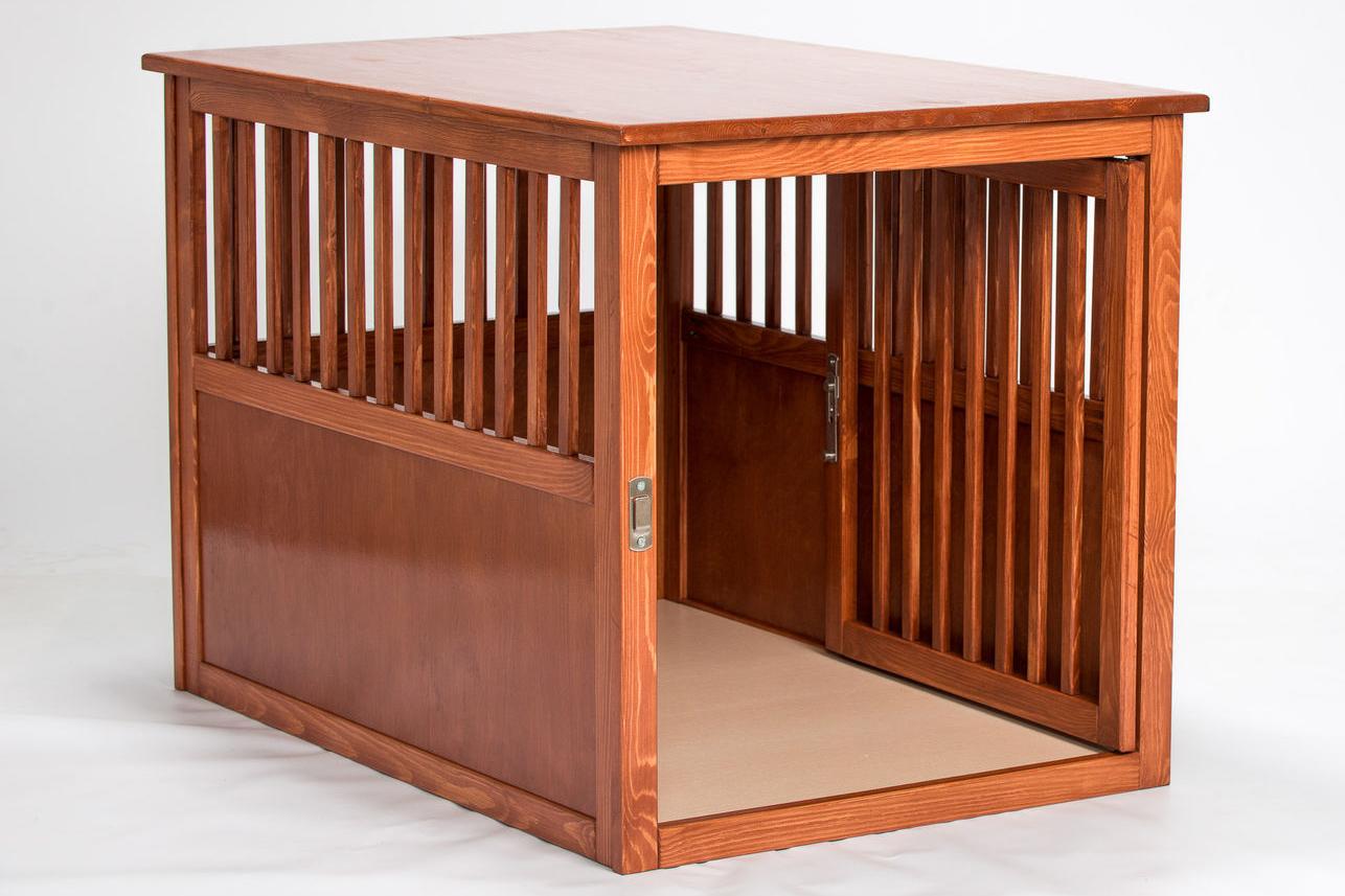 Деревянная клетка для собак